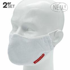Mund- und Nasenmaske, 2er-Set, Mehrweg, waschbar, FFP2 ...